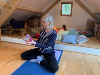 Sarah reading for Relaxation and Meditation Workshop at The Oaks, Normandy, Guildford.