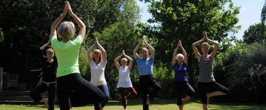 Garden Yoga Classes in Normandy, Guildford, Surrey